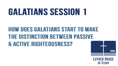 Passive & active righteousness?