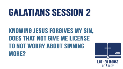 Can I not worry about sinning more?