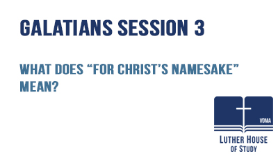 "What does ""For Christ's namesake"" mean?"