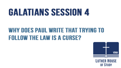 Why Paul writes that following the law is a curse?