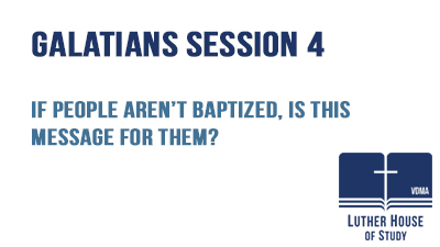 People aren't baptized, is this message for them