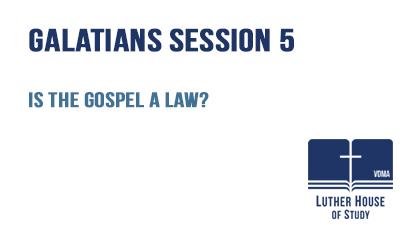 Is the gospel a law?
