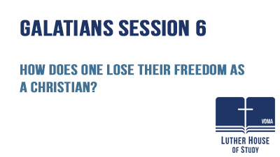 How does one lose their freedom as a Christian?