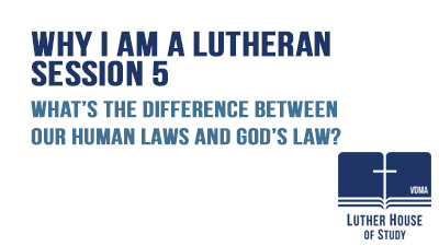 The difference between human laws and God's law?