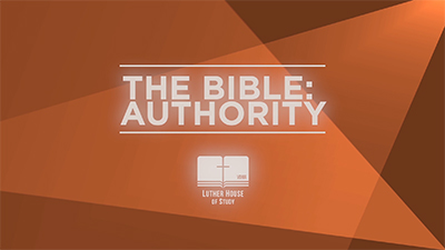 The Bible: Authority