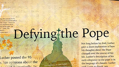 Politics: Defying The Pope
